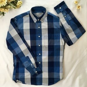 J. Crew Blue Plaid Button-down Slim Shirts for Men